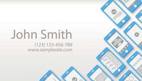 Creative business cards vectors model