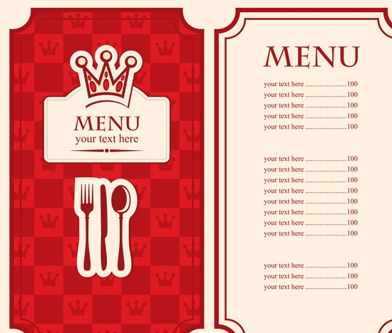 Menu Design Templates Publisher