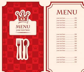 Red restaurant menu design