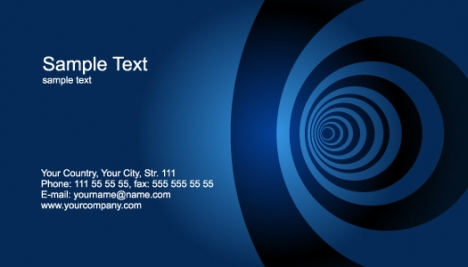 Abstract business cards models