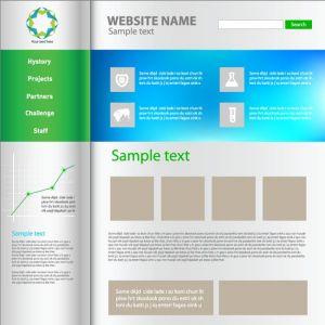 Website template minimalist design vector