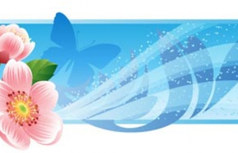 Abstract flower banner