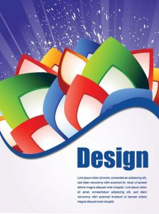 Abstract flyers design vector