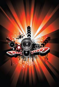 Abstract music poster design