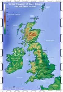 physical map of great britain