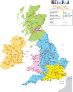 railroads map of great britain