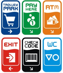 Advertising and shopping sticker