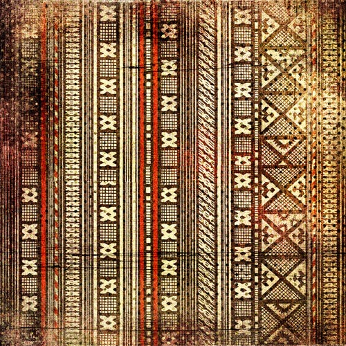 Cool fabric shower curtains - African Textures And Motifs Mirror