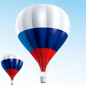 Air ballons filled with flags vectors