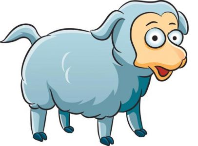 Lamb animal farm vector design
