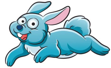 Blue rabbit animal farm vector design