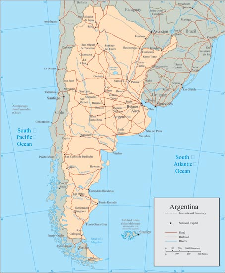 map of argentina with cities. Argentina vector maps