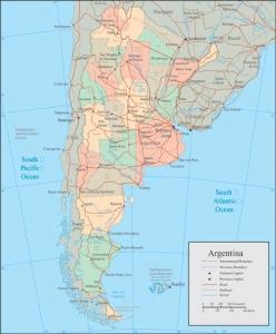 Argentina vector map