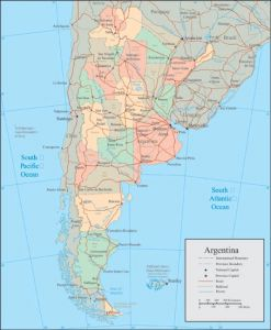 Argentina vector map