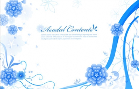 Flower greetings design