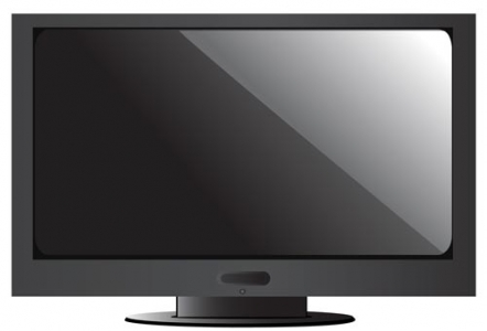 TV plasma vector