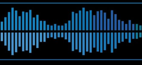 Audio waves and signals vector