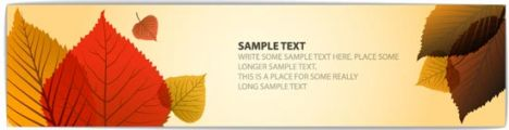 Autumn vector banner template