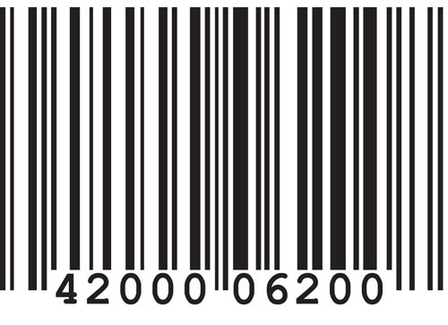 Bar codes vectors for Barcode food