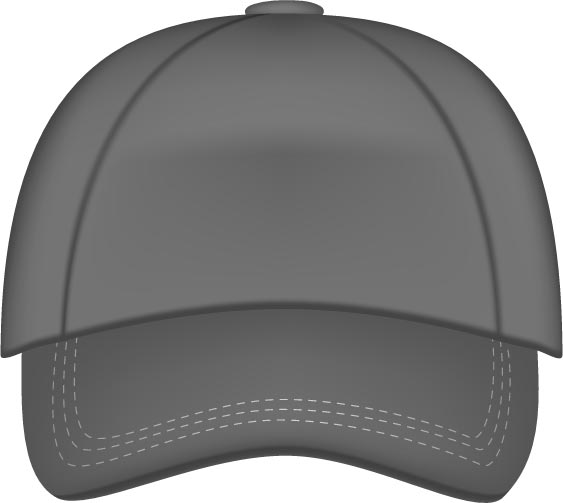baseball hats vector models rh vector eps com white baseball hat vector Vector Baseball Hat Front