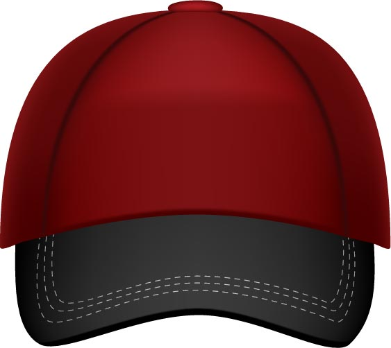 baseball hats vector models