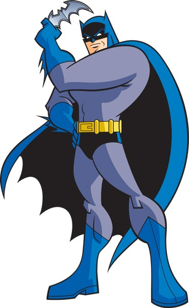 Batman cartoon character vector