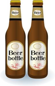 Realistic beer bottles vectors