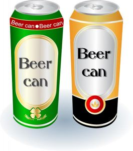 Realistic beer cans vectors