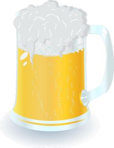 Mug filled with beer vectors
