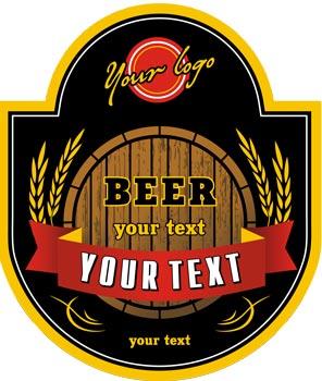 Beer logo vector labels for Beer logo creator