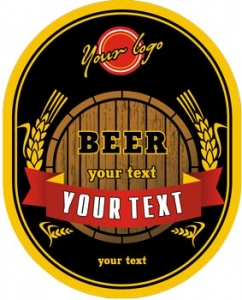 Beer logo label