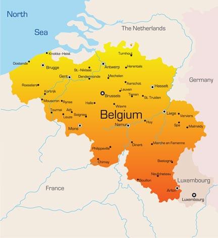 Belgium Vector Maps - Germany map eps