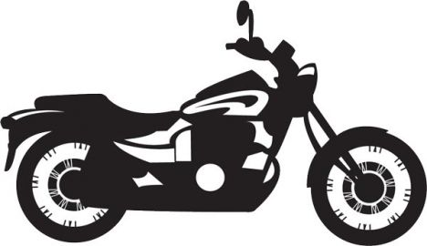 Bikers clipart vector silhouettes