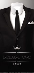 Black tuxedos vector design
