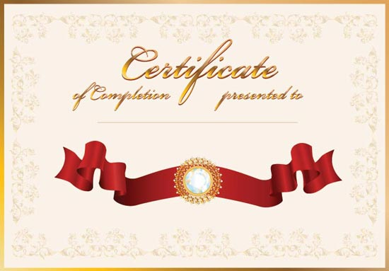 Blank certificates vectors certificate vector template yadclub Image collections