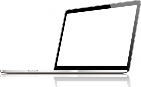 Blank screen of laptops device vector