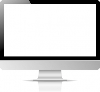 Blank screen of monitor device vector
