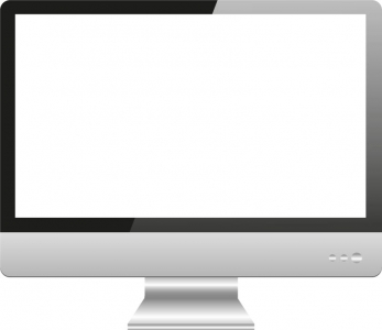 Blank screen of Imac device vector