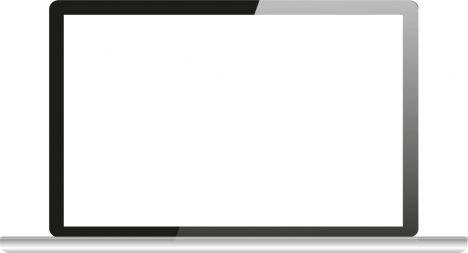 Blank screen of Mac Book Air device vector