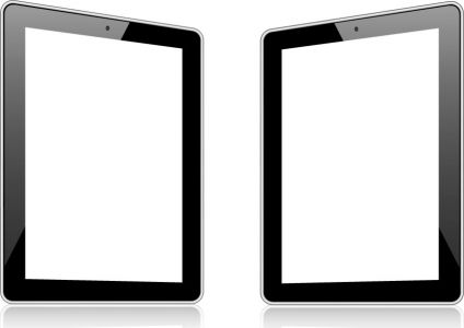 Blank screen of tablets device vector