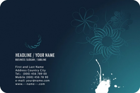 Blue business cards vectors