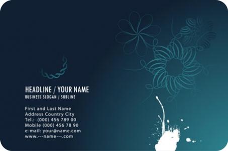 Blue business cards vectors
