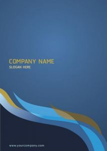 Corporate blue map cover vector