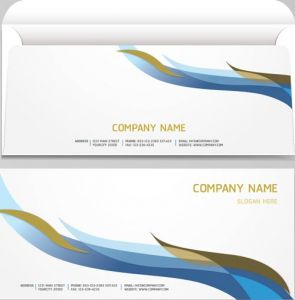 Corporate blue envelopes vector