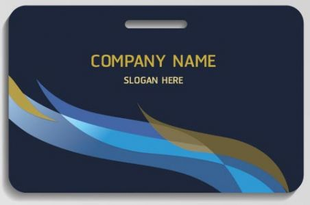 Corporate blue business cards vector