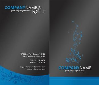 Business card corporate identity