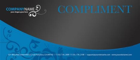 Compliment front corporate identity