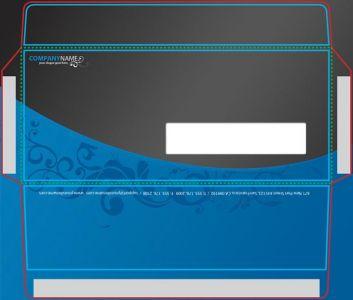 Envelope corporate identity vector