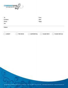 Fax corporate identity vector