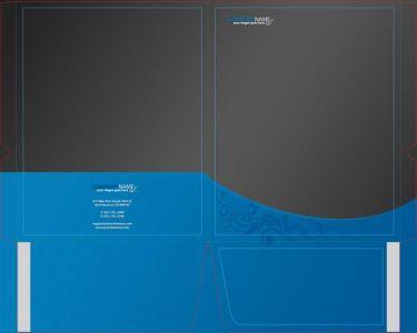 Folder corporate identity vector